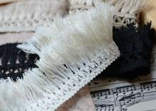 3 Meters/lot 5.5cm Width 100% Cotton Fringe Lace Trim Venice Off White Tassel Lace Ribbon for DIY Craft(China)