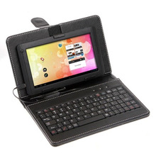 Wholesale Best quality 7 inch keyboard case with mricro USB  Q88 Keyboard  7 inch Russian Spanish English keyboard can choose