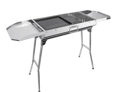 HZA- 8806 stainless steel grill, folding Charcoal Grill,BBQ Outdoor Grill
