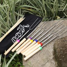 Outdoor Cookware Roasting Sticks Safe for Kids Extra Long Telescoping Extendable Hot Stainless Steel(China)