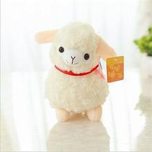 1PCS Hot Sale Alpaca Sheep Plush Toy Cream Llama Doll Stuffed Plush Animal Kid Gift 20cm 2 Colors(China)