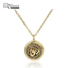 my shape New Diffuser Necklace Jewelry OM Yoga Pattern Locket Pendant Perfume Essential Oil With 5 Different Refill Pads