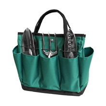 Garden Tool Bag Oxford Fabric Garden Square Box Type Bag for Gardening Waterproof Outdoor Tools Container Bag  Pouch With Handle