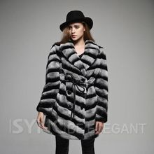 Popular new Women's fur coats,100% Rex rabbit fur coats slanting stripe fur jackets,Chinchilla style rabbit coats FS01S