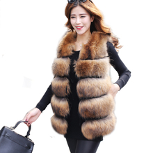 Winter Women Real Raccoon Fur Vest Gilet Women's Real Fur and Leather Overcoat Outerwear Coat