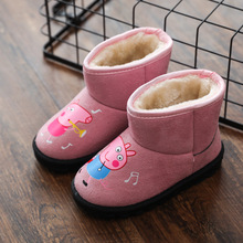 New Winter Spring Autumn Kids Shoes Boys Girls Snow Boots Peppa Pig Fashion Soft Outdoor Dress Princess Boots(China)