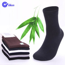 10pair Men's bamboo fiber cotton Socks for spring autumn male casual business in tube Socks man male high quality health sox(China)