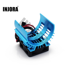 New 7014 Motor Heat Sink and Cooling Fan Set for 1/10 HSP RC Car 540/550 3650/3660 Motor 1:10 Electric RC Car Parts(China)