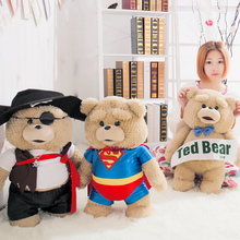 Cute cheap TED Pirate clothing Superman clothing bear Down Teddy Movie peripheral toy plush toy Birthday gift