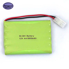 Banggood 12V 1800mAh 10x AA NIMH RC Rechargeable Battery Pack with Tamiya Connector Plug for Helicopter Robot Car Toys(China)