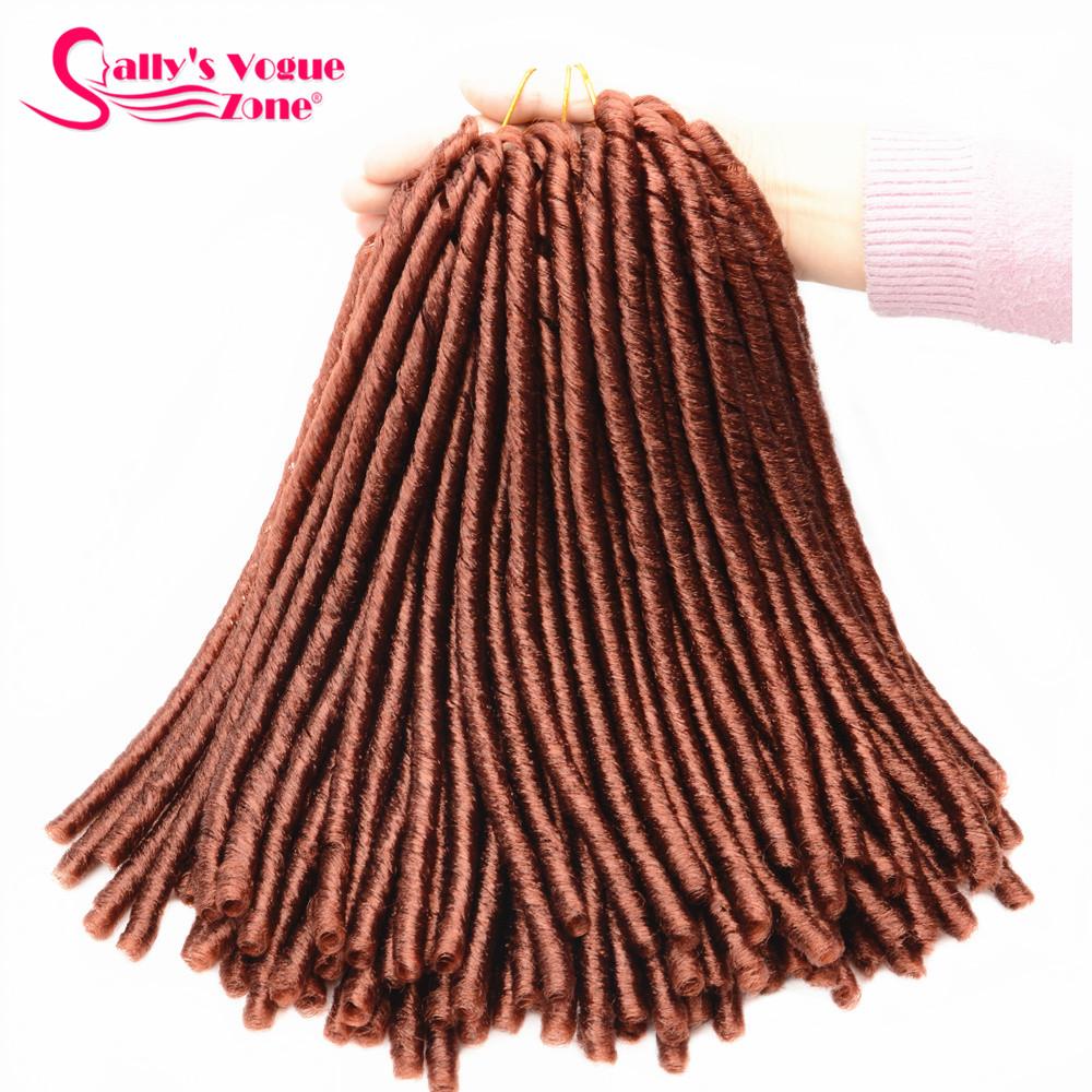 24 Roots Faux LocsCrochet Hair 18 Crochet Faux Lock Dreadlock Crochet Braids hair Extensions Synthetic Braiding hair Soft lock (118)_