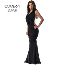 R70159 Trendy popular sleeveless backless dress top selling back metal chain black women dress fashion style formal maxi dresses