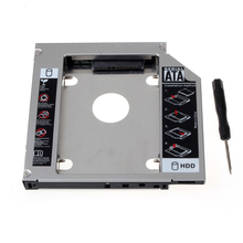 Top Second 2nd HDD Hard Drive Caddy Adapter Bay For Laptops SATA To SATA Notebook Drive Bracket Notebook Suppion