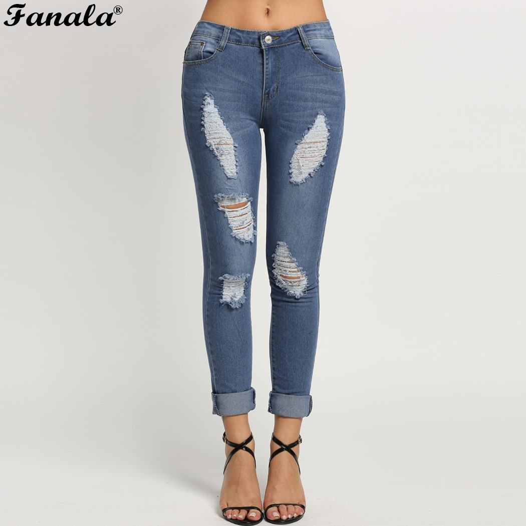 Fanala Jeans Womens Mid Waist Elastic Skinny Long Denim Pencil Pants Woman Jeans Feminina Lady Trousers Jeans Plus Size Одежда и ак�е��уары<br><br><br>Aliexpress