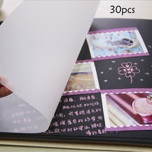 30pcs Photo Album Horizontal Version Tracing Paper Drawing Sheet Transparent Tracing Paper Design Sketch Drawing Paper(China)