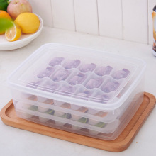 1 layer/set 45 Grid Dumpling Storage Box Case Kitchen Dumpling Keep Fresh Refrigerator Crisper Storage Kitchen Accessories Tool(China)