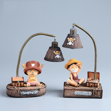 Japan Anime One Piece Monkey D Luffy Tony Tony Chopper Resin Action Figure Kids Toys Child Led Night Light Brinquedos Doll(China)