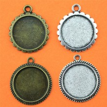 12 pieces lot fit 16mm Inner Size Round Zinc Alloy Cabochon Base Cameo Setting DIY jewelry Charms handmade Pendant Tray