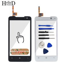 A+++ Touch Screen Digitizer For Lenovo P770 Sensor TouchScreen Front Glass Touch Panel Window Lens Sensor Adhesive Free Shipping