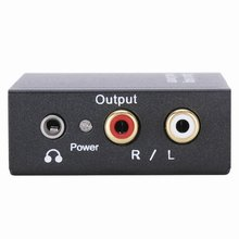 EDT-DAC Converter with 3.5mm Audio Digital Audio Output Analog - Digital Signal in Converts Analog Signal (Optical or Coaxial