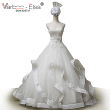 Free shipping luxury wedding dress beading ball gown wedding dress real sample photo ruffles white wedding dress 2014