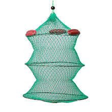 Collapsible Green Knot Boat Fishing Live Bait Keep Net
