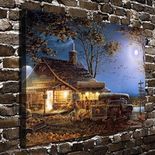 10574 Terry Redlin House Work People Scenery .HD Canvas Print Home decoration Living Room bedroom Wall pictures Art painting