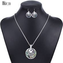 MS1504262Fashion Jewelry Sets Hight Quality Necklace Sets For Women Jewelry Silver Plated Antique Round Unique Design Party Gift