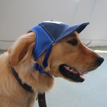 Breathable Baseball Dog Caps Pet Dog Hats Large Dogs Sports Sun Hats Pet Supplies Blue Khaki