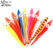 MNFT 25pcs 12cm 10cm 9cm Octopus Lure,Squid Jigs Sishing Lure Soft Lure Sea Fishing Salt Water Big Game Bait Skirt Mixed Color(China)