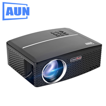 AUN Projector AKEY3 1800 Lumens Set in HDMI, VGA, USB, Port. MINI LED Projector for Home Theater, Support Ceiling Mount, 1080P