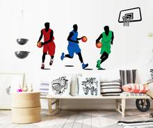 2017 New  Design Creative Sport Basketball Stickers Removable Mural PVC Home Decor  free shipping