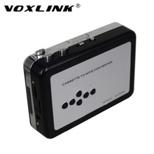VOXLINK USB Cassette Player and Converter Convert Old Tape to MP3 Format into TF/Micro SD Card Support AA Battery or USB-powered