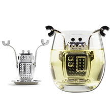 Manufacturer Direct Tea Infusers Stainless Steel Cute Tea Robot Infuser Recyclable Tea Strainers Tea Tool