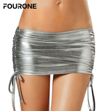 Buy Sexy Lingerie Womens Party Skirt Metallic Underwear Exotic Pants Miniskirt Side Lace