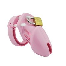 Buy soft silicone male chastity device lock cb6000s penis sleeve cock cage mens chastity belt sex toys cock rings dick cages men