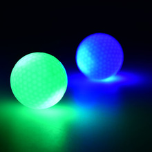 2016 LED Electronic Color changing Golf Balls in dark practice training Night indoor sport funny(China)