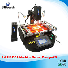 BAUER OMEGA XD hot air & infrared 2 in 1 BGA repair machine+LY Cobra CCD Camera system with 8'' monitor ship to EU no tax