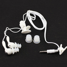 The new stereo waterproof earbud Earphone In-ear earphone Swimming sport earplugs for mp3 mp4 most smart cell phone(China)
