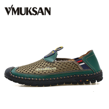 VMUKSAN Men Shoes Plus Size 38-46 Air Mesh 새 Slip On Man Loafer Summer Fashion Casual Shoes(China)