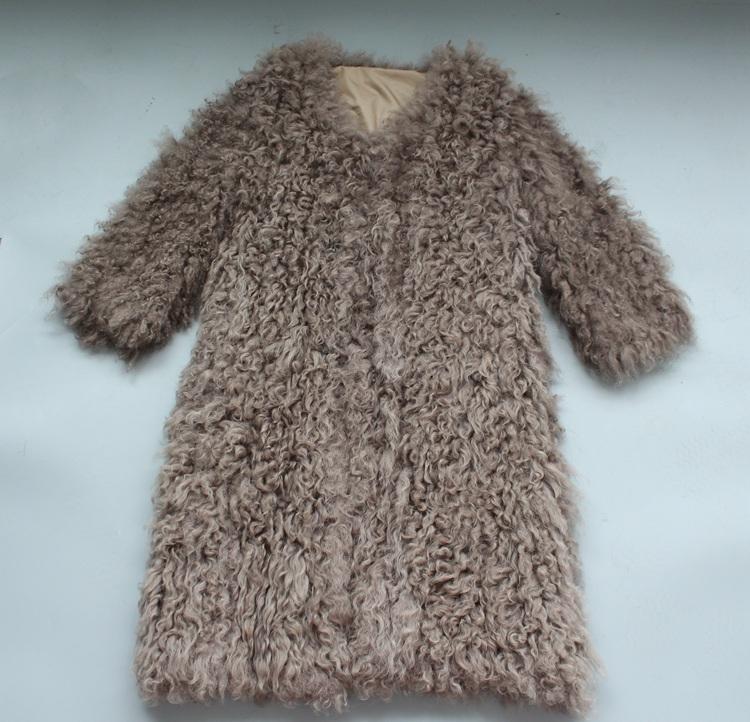 women natural lamb sheep fur coat (20)