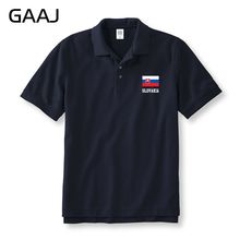 Slovakia Flag Polo Shirts Men & Women Unisex MaleHigh Quality central European Male Man Polos Summer Plus Size Man Cotton Short(China)