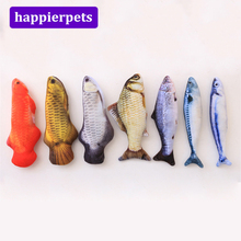 Cats Simulation Chewing Toys 20cm Fish Model Cat Mint Toys for Cat Training Playing Chewing Pet Toys for Kitten Hot Sale MPE141(China)