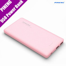 Original Pineng 10000mAh Power Bank PN-958 Portable Shake Start External Battery Li-Polymer Dual USB For Xiaomi Samsung Phone7(China)