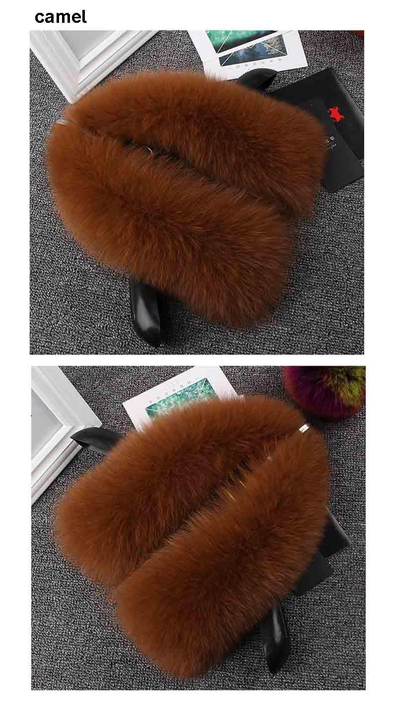 fox fur collar men camel