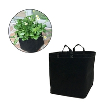 Fabric Pot Green Vegetable Pouch Round Fabric Pots Plant Pouch Root Container Grow Bag Aeration Pot 7 Gallon