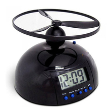 Creative Flying Alarm Clocks Black Lounger Table Clock With Snooze Game Function LCD Display Desk Alarm Clocks(China)