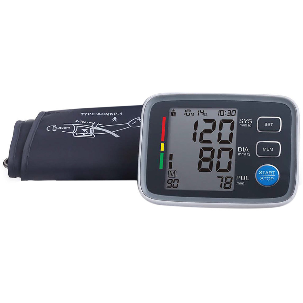 New Bluetooth BP Monitor Digital Screen Arm Type Blood Pressure Monitor Heart Pulse New Sale<br>