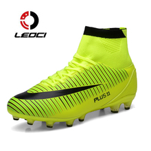 LEOCI Soccer Shoes Mens Original Superfly Chuteiras Football Shoes Soccer Long Spikes Sock Soccer Cleats Trainer Sport Sneakers