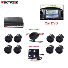 Vehicle Car Video DVD Parking Sensor Backup Visible Radar System Assistance Auto 8 Sensors with Front Rear view Camera